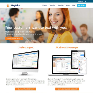 Heywire Web Site Redesign