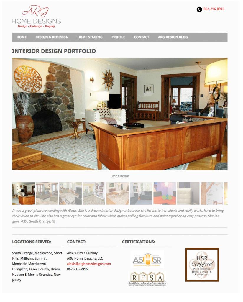 ARG Home Designs Web Site Design   Dawn Barnhart